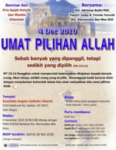 Seminar Umat Pilihan Allah